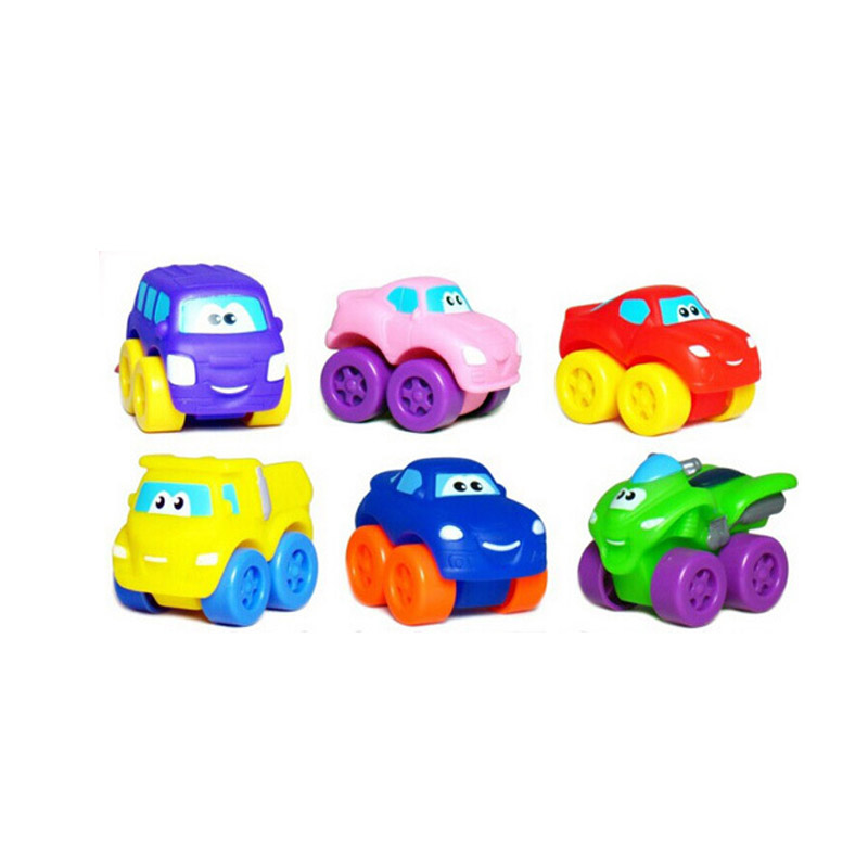 Wal-Mart Approved Factories Cute ABS Plastic Small Custom Cartoon Colorful Car Toys 2018