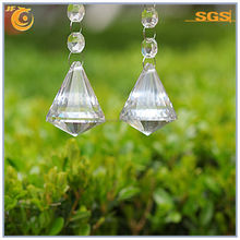30mm/40mm Clear Fabulous Crystal Like Drop Ornaments Diamond Shape Cone Prism