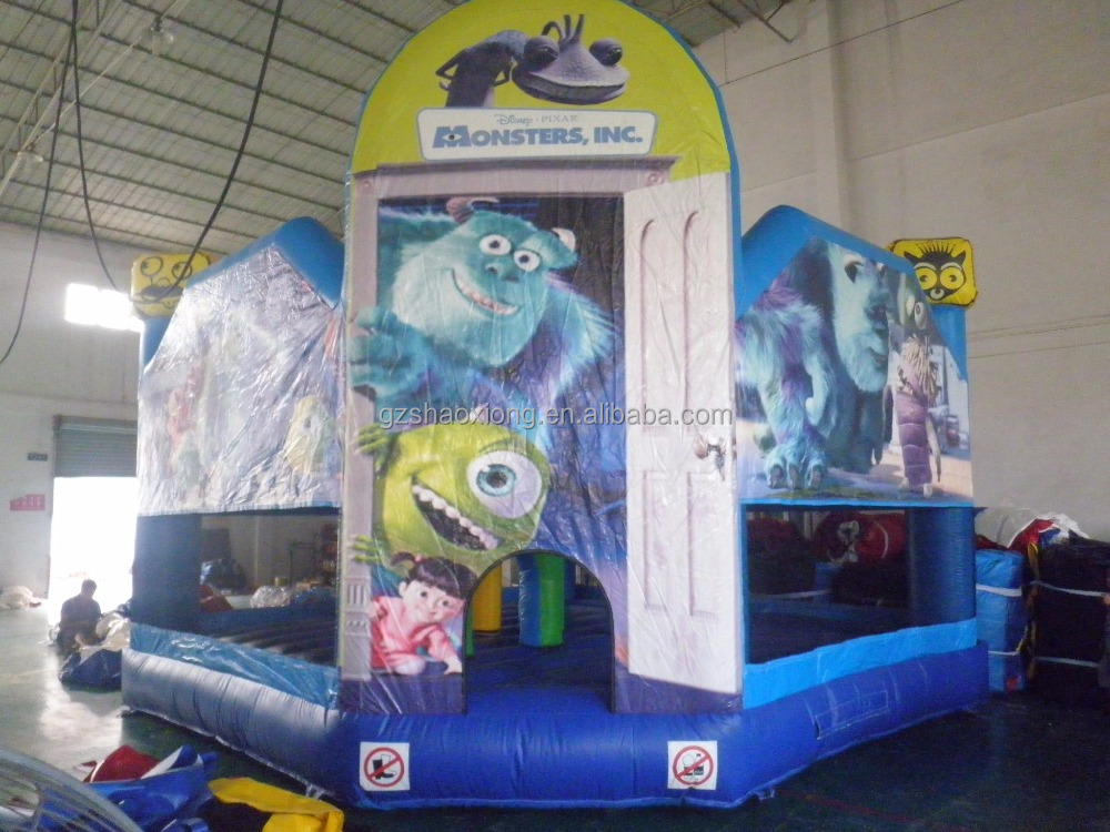 Can switch cheap bouncy castle inflatable bouncy castle art panel bouncy house for sale