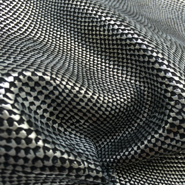 New design synthetic snake skin fabric for shoes