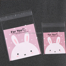 Hot Lovely Rabbit Clear Cellophane Cookies Craft Wedding Birthday Candy Party Plastic Gifts OPP Bags