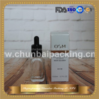 wholesale 30ml clear french square perfume bottles wholesale perfume bottles with paper tube
