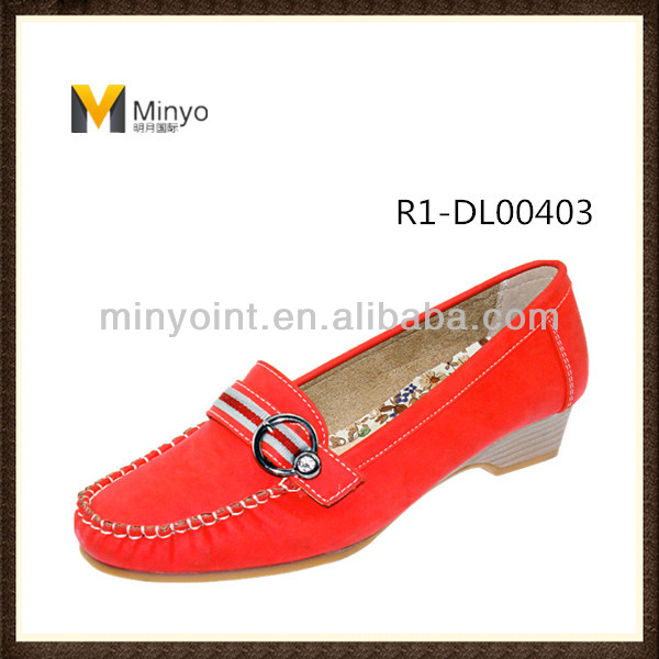 Minyo Fashion Mid Heel Women Casual Comfort Shoes with MOC