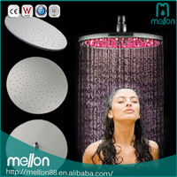 Round High Pressure Rainfall Rain Bathroom Led Shower Head