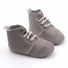 Popular grey baby oxford shoes small quantity shoes with soft rubber sole