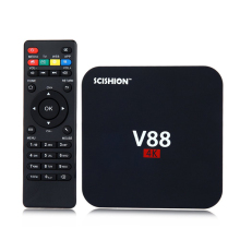 Soyeer Cheapest V88 4K Android 5.1 Smart TV Box Rockchip RK3229 2G/8G WiFi Full Loaded Kodi 16.1 SCISHION V88 TV Box