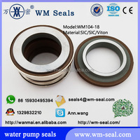 silicone carbide mechanical seal WM104-18 SIC/SIC/Vtion for water pump