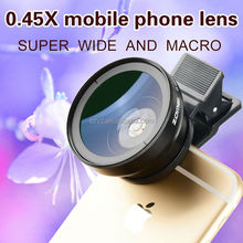 0.45X Ultra Wide Angle Lens SLR Camera Lens Mobile Phone External Effects 10 Macro Lens For iPhone 7 7plus 6 6s plus