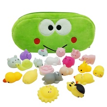 2019 New Design Mini Animal Squishy Toy 3D Kawaii Animals Eco-friendly Soft Mochi Squeeze Squishy Cat Toys