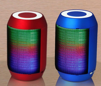 Bicycle Bluetooth speakers with fm radio tf card usb and line in dj laser light speaker mini dj speaker system