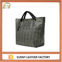 trend new styles snake skin ladies tote bags genuine leather handbags