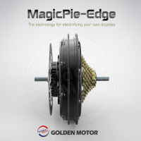 MagicPie Edge 250W-500W electric bike motor -- 10-Speed Cassette! Built-in Sine-wave Controller! Blue-Tooth Connection!