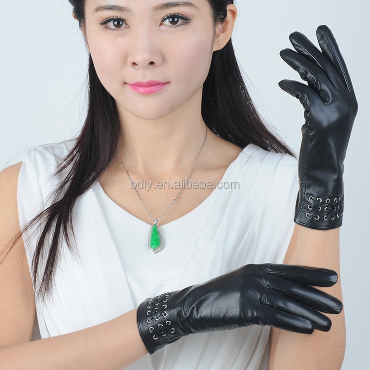 Women Leather Glove,Sex Lady Sheep Gloves