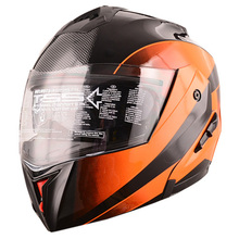 DOT approved double visors modular motorbike flip up helmet