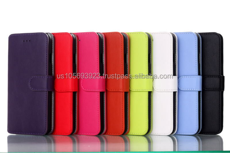 Leather Flip Wallet Leather Case For Iphone6 With Credit Holder 8 colors