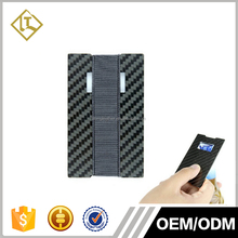 Real Carbon Fiber Thin Credit card Wallet ID holder with Bottle Opener