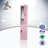 Customized colorful digital lock changing room used metal safe storage steel 2 door gym locker