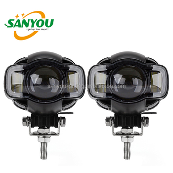 motorcycle led headlight driving light waterproof for sportster road king dyna honda/harley