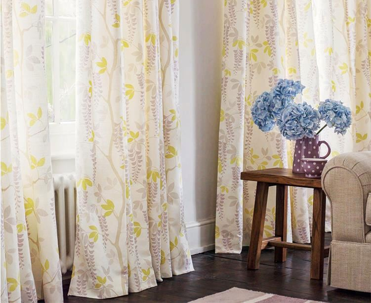 2016 new design stylish printed eyelet curtain curtain and drapery