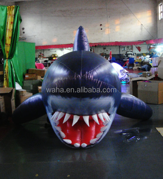 2015 customized giant inflatable shark