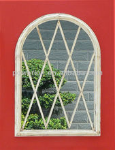 Vintage Antique Anomalous Large Metal Frame Decorative Floor Standing Glass Garden Mirror