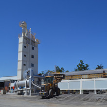 Building machine 160t/h hot mix asphalt batching plant with energy conservation