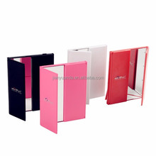 Three way door shape foldable vanity LED lighted Cosmetic mirror