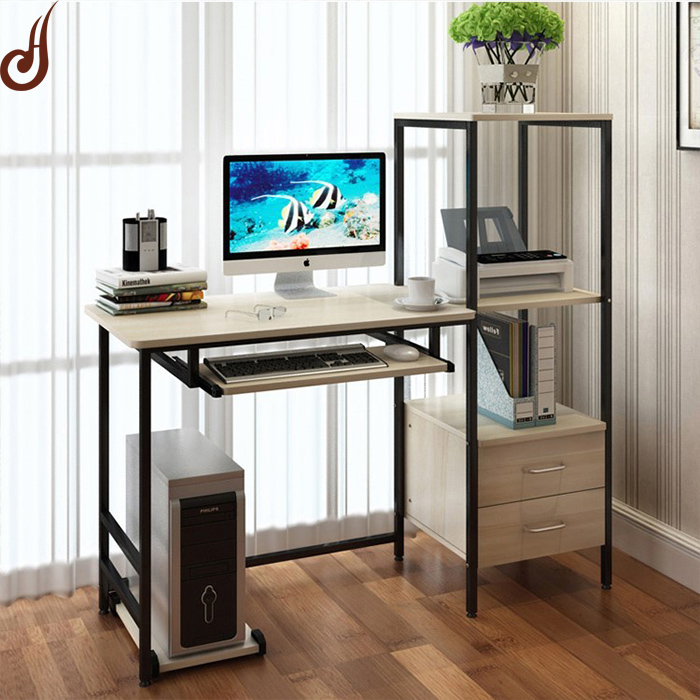Customized color and size MDF and iron cheap custom home made computer desk