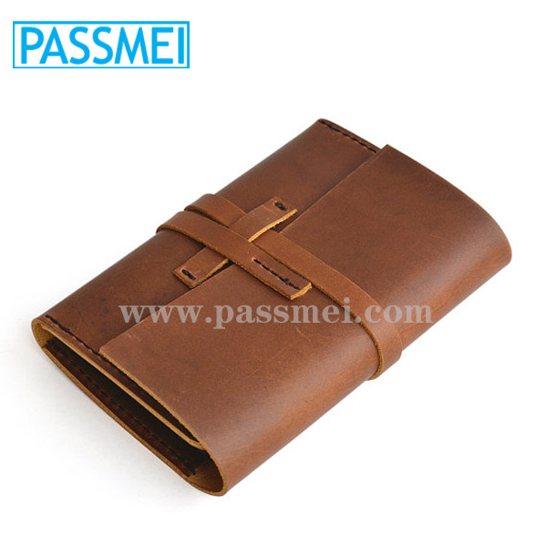 Genuine Leather Case for notebook with leather cover casecover case for notebook with card holder