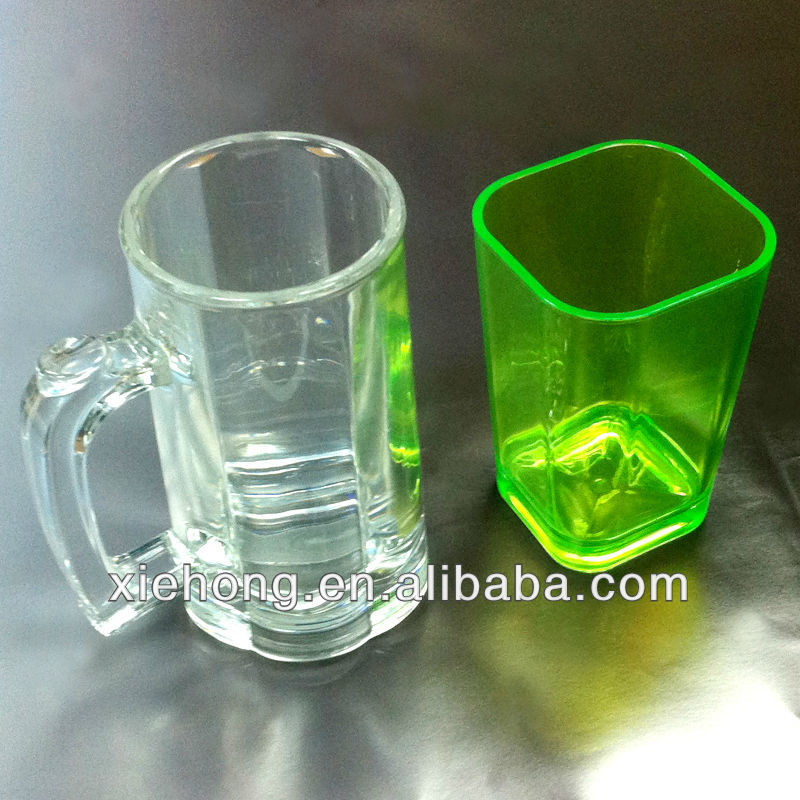 2013 high clear acrylic cup with handle