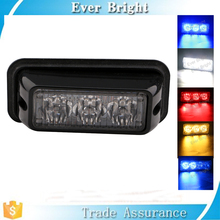 High powe 3W Auto LED warning amber strobe light super bright strobe light car