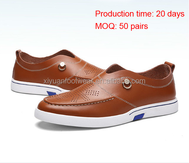 Stock Shoes Original Oxford Leather Shoes For Men With Rubber Sole