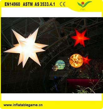 Factory Supplier LED light and halogen lamp colorful changing inflatable star