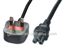 British BSI 13A moulded plug UK power cord