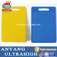 food grade nontoxic tasteless shaped plastic cutting board/square chopping block/PVC chopping board