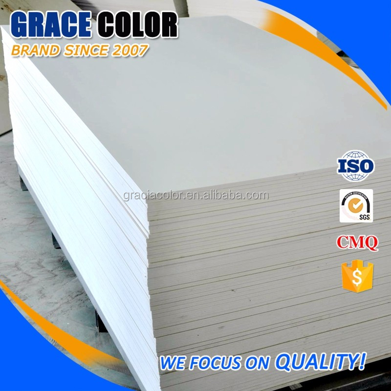 4'x8' 6'x10' expanded forex pvc foam sheet 12mm thickness white