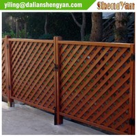 Wood Garden Fence With Lattice