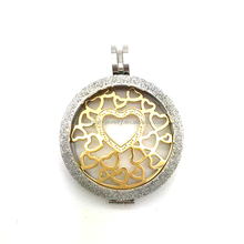 New arrival high quality best price factory wholesale gold floating plates matt finish open locket for women LP9278