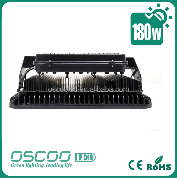 Oscoo Manufacturer Popular-Sale IP65 Die Casting Aluminium 180 Wat LED Floodlight China with Epistar Chip & Meanwelll Driver