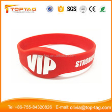 363Bits Writable 125KHz Silicone Rubber RFID Wristband ISO 11785