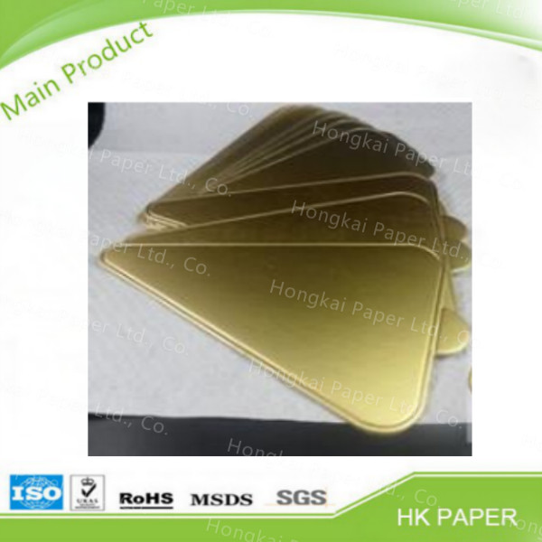 Top grade decor paper silver golden cake board