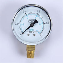 2016 Specially designed High Quality clear to read vacuum pump meter hydraulic pressure gauge
