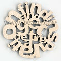 Bamboo Alphabet Letter wall decoration