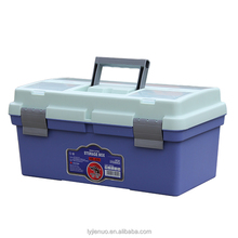 Grey Lid and bule Bottom 2-tray Plastic Storage Fishing Tackle Box