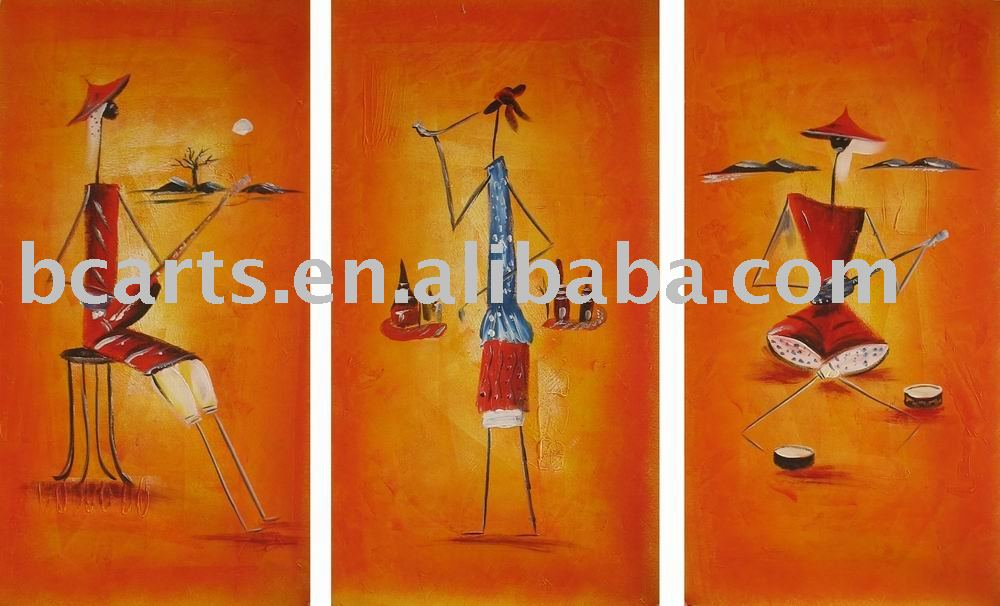 canvas group paintings,Warm colors and high-quality handmade abstract oil painting on canvas cloth wholesale
