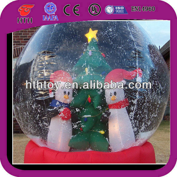 christmas decoration inflatable snowman and tree in the ball