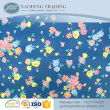 Wholesale custom printed spun polyester cotton feel fabric