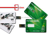 4G/8G/16G/32G Bank Credit Card Shape USB Flash Drive Pen Drive memory stick/digital printing