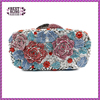 Blue color rose flowers pattern color evening clutch bag party bag (8605A-B)