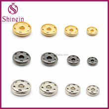 Multi sizes custom color four parts 10-25mm brass spring kam snap button